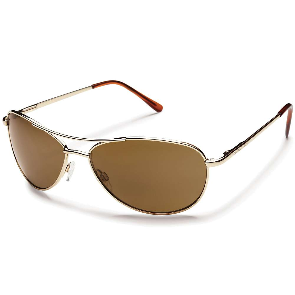 Image of Suncloud Patrol Polarized Sunglasses - One Size - Gold / Brown Polarized