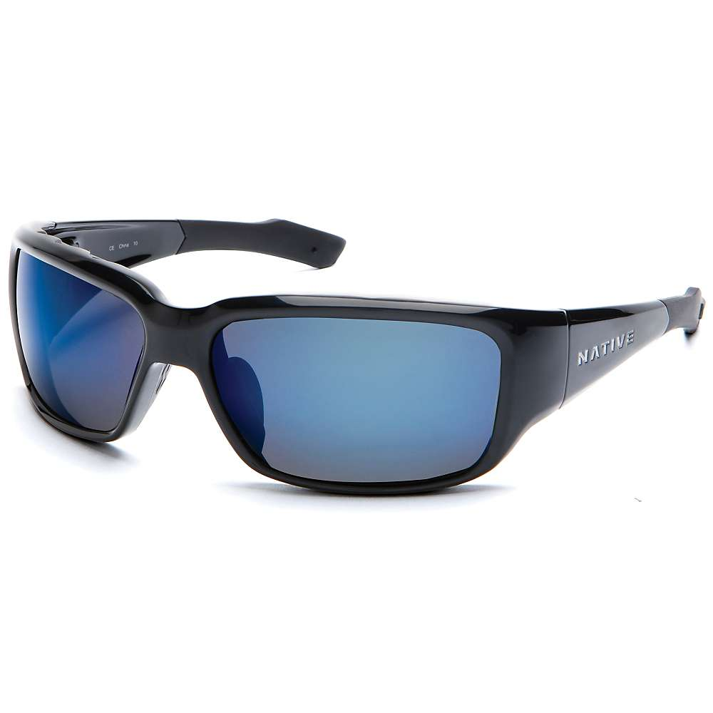 Native Bolder Polarized Sunglasses - One Size - Asphalt / Blue Reflex Polarized