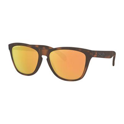 Oakley Frogskins Polarized Sunglasses - One Size - Matte Brown Tortoise/PRIZM Rose Gold Polarized