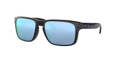 Oakley Holbrook Polarized Sunglasses - One Size - Polished Black / PRIZM Deep H2O Polarized