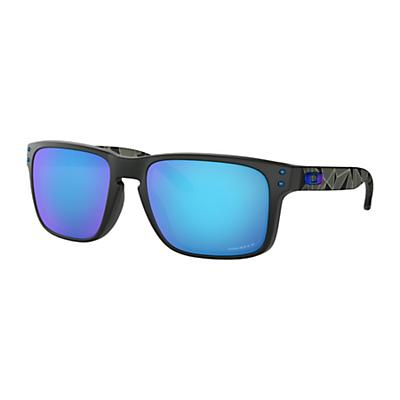 Oakley Holbrook Polarized Sunglasses - Matte Black Prizmatic/Prizm Sapphire Polarized