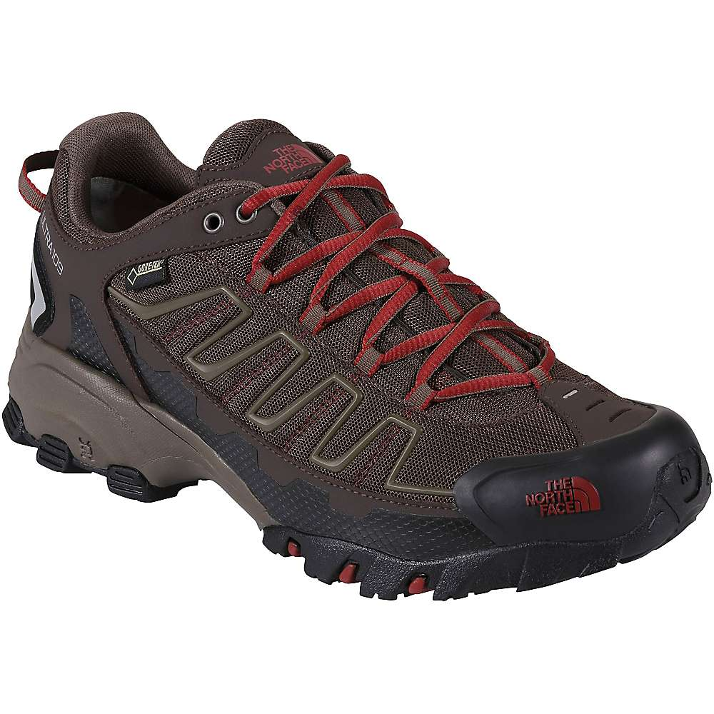 The North Face Men's Ultra 109 GTX Shoe - 11.5 - Coffee Brown / Rosewood Red