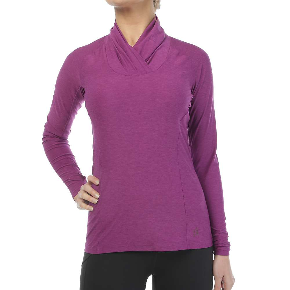 Sierra Designs Women's Long Sleeve Cowl Neck Top - Small - Lilac
