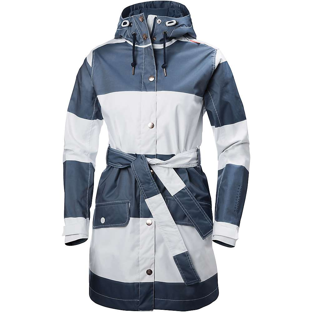 Helly Hansen Women's Lyness Coat - Medium - Marine Blue Wide Stripe