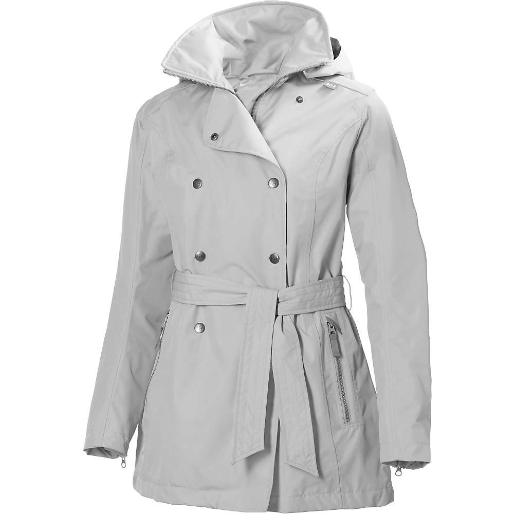 Helly Hansen Women's Welsey Trench Jacket - Medium - Ash Grey