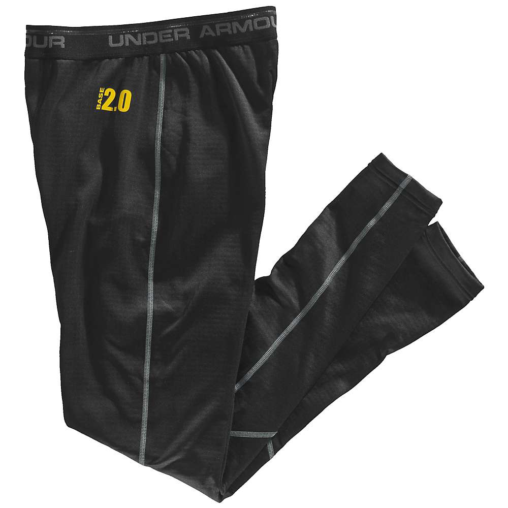 Under Armour Men's UA Base 2.0 Legging - Large - Black / Battleship / School Bus