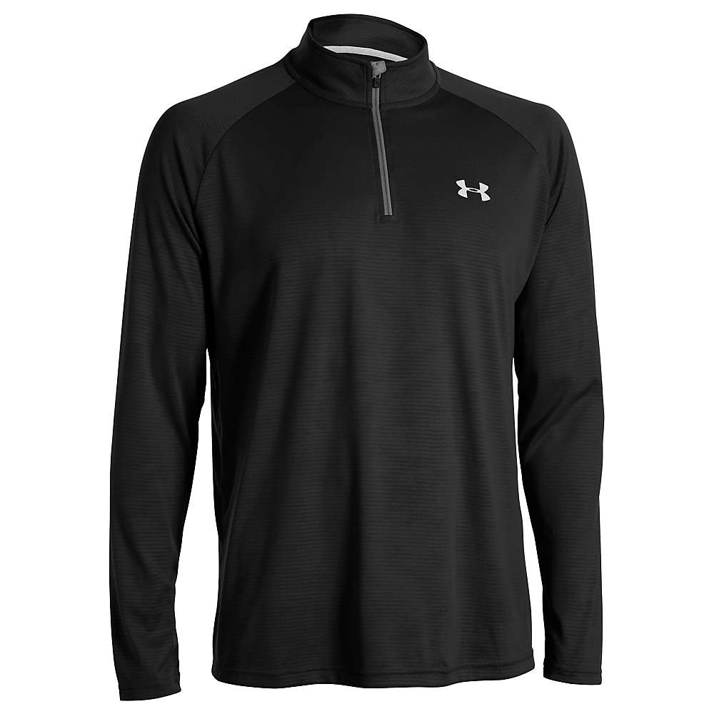Under Armour Men's UA Tech 1/4 Zip Top - XL Tall - Black / White