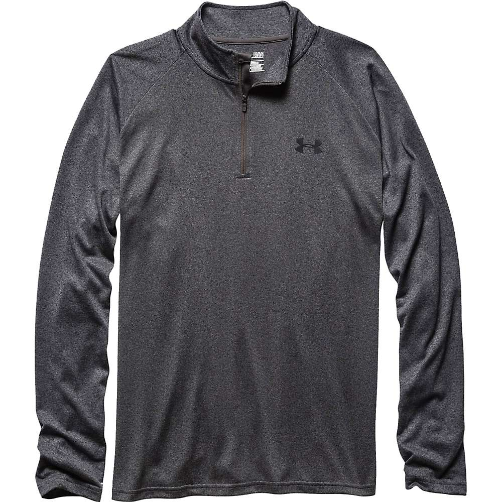 Under Armour Men's UA Tech 1/4 Zip Top - XL - Carbon Heather / Black