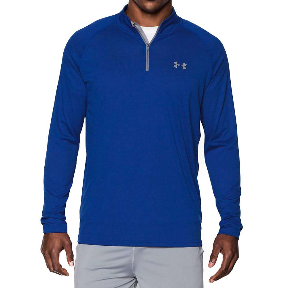 Under Armour Men's UA Tech 1/4 Zip Top - Large - Royal / Steel / Steel 402