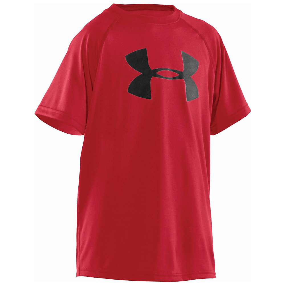 Under Armour Boys' UA Tech Big Logo SS Tee - XL - Red / Black