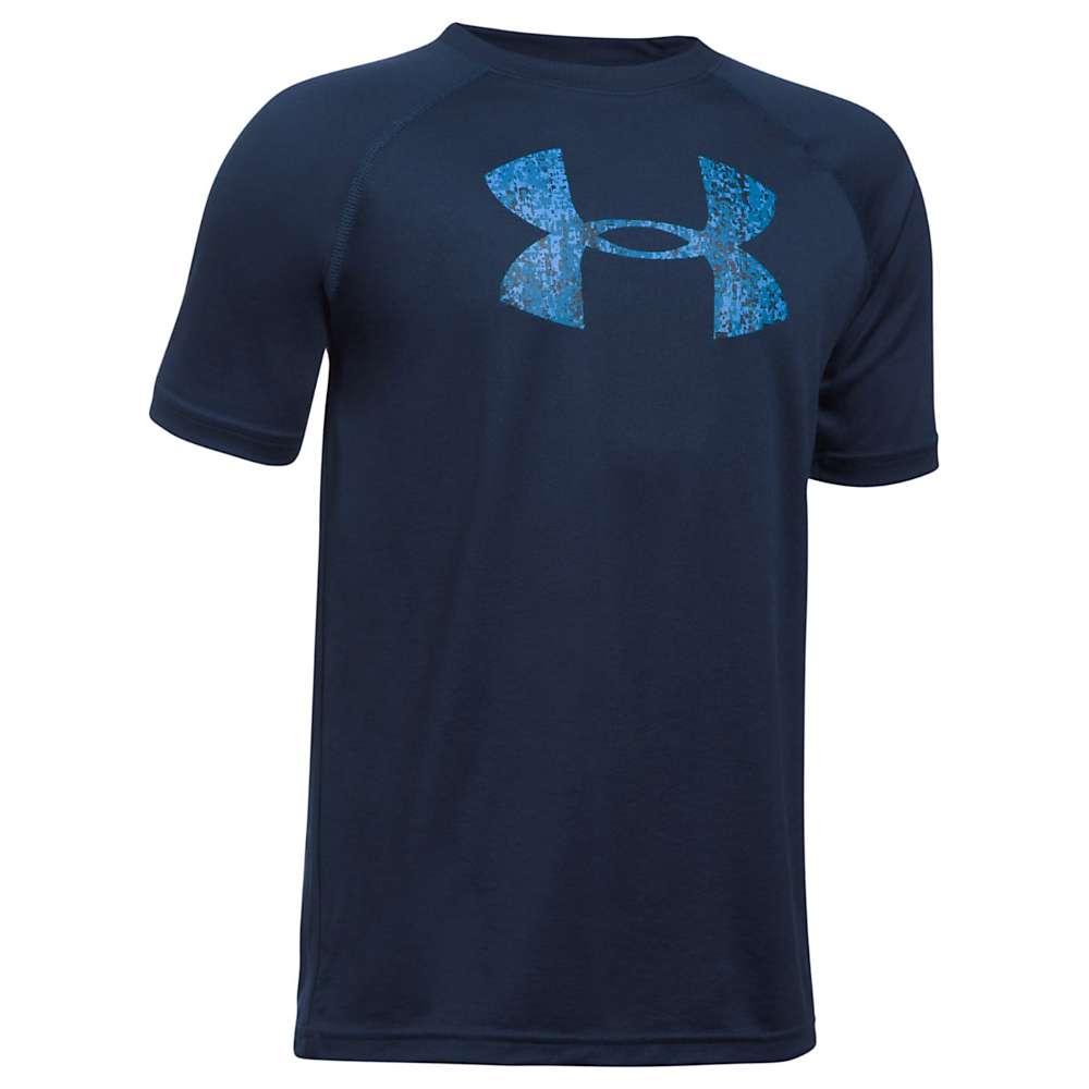 Under Armour Boys' UA Tech Big Logo SS Tee - XL - Midnight Navy
