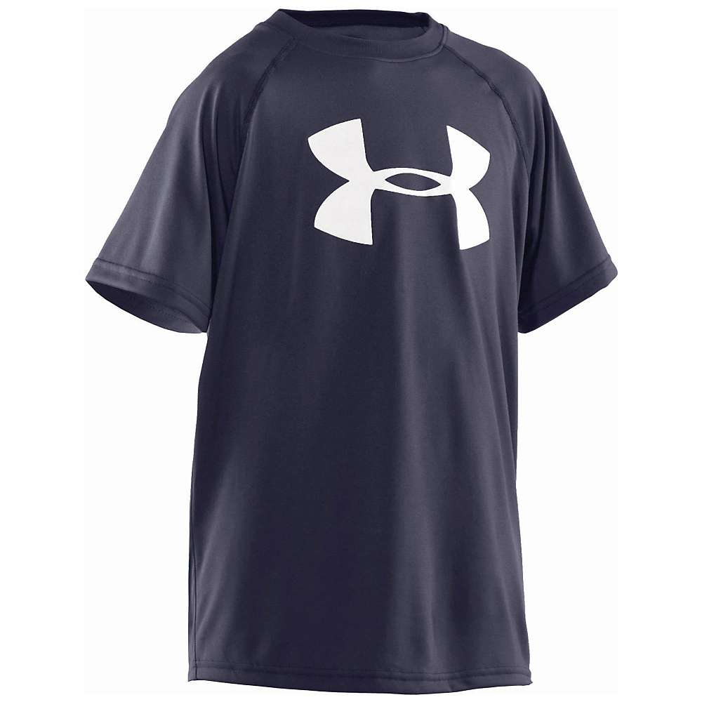 Under Armour Boys' UA Tech Big Logo SS Tee - XL - Midnight Navy / White