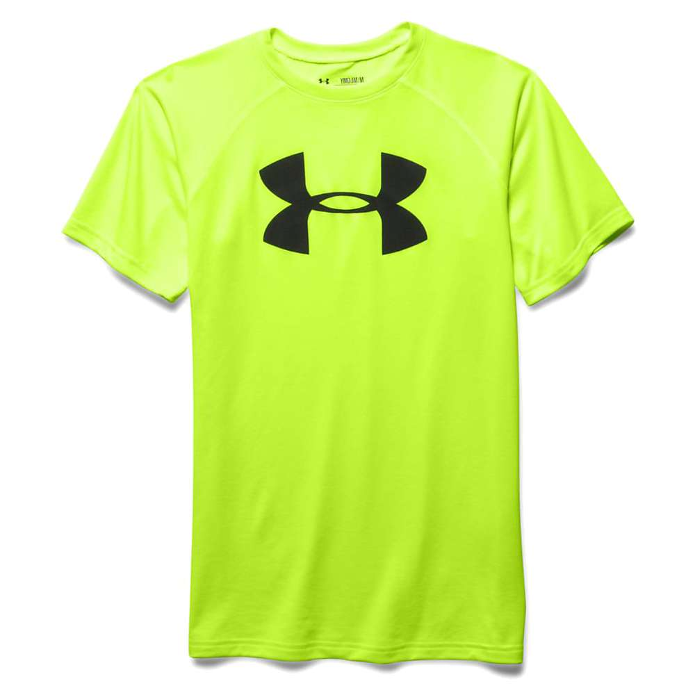 Under Armour Boys' UA Tech Big Logo SS Tee - Small - Fuel Green / Black