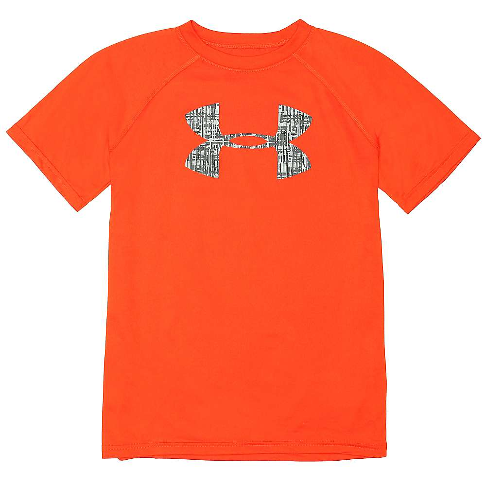Under Armour Boys' UA Tech Big Logo SS Tee - Large - Volcano / Stealth Grey