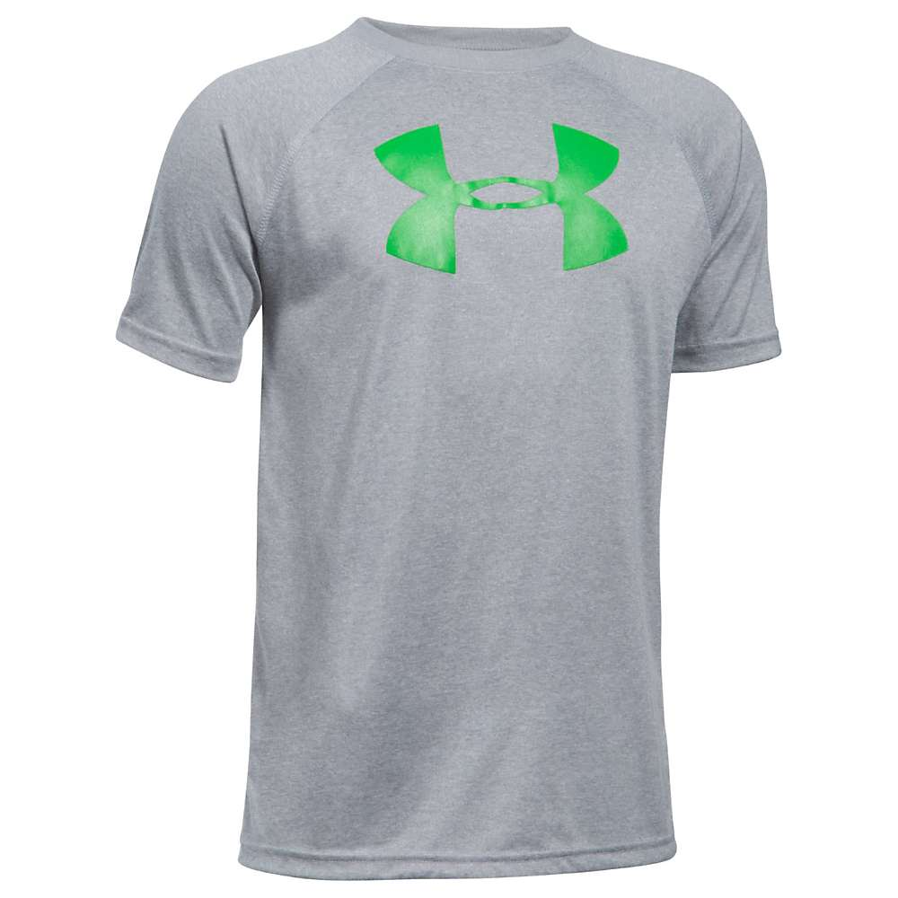Under Armour Boys' UA Tech Big Logo SS Tee - Large - Steel Light Heather