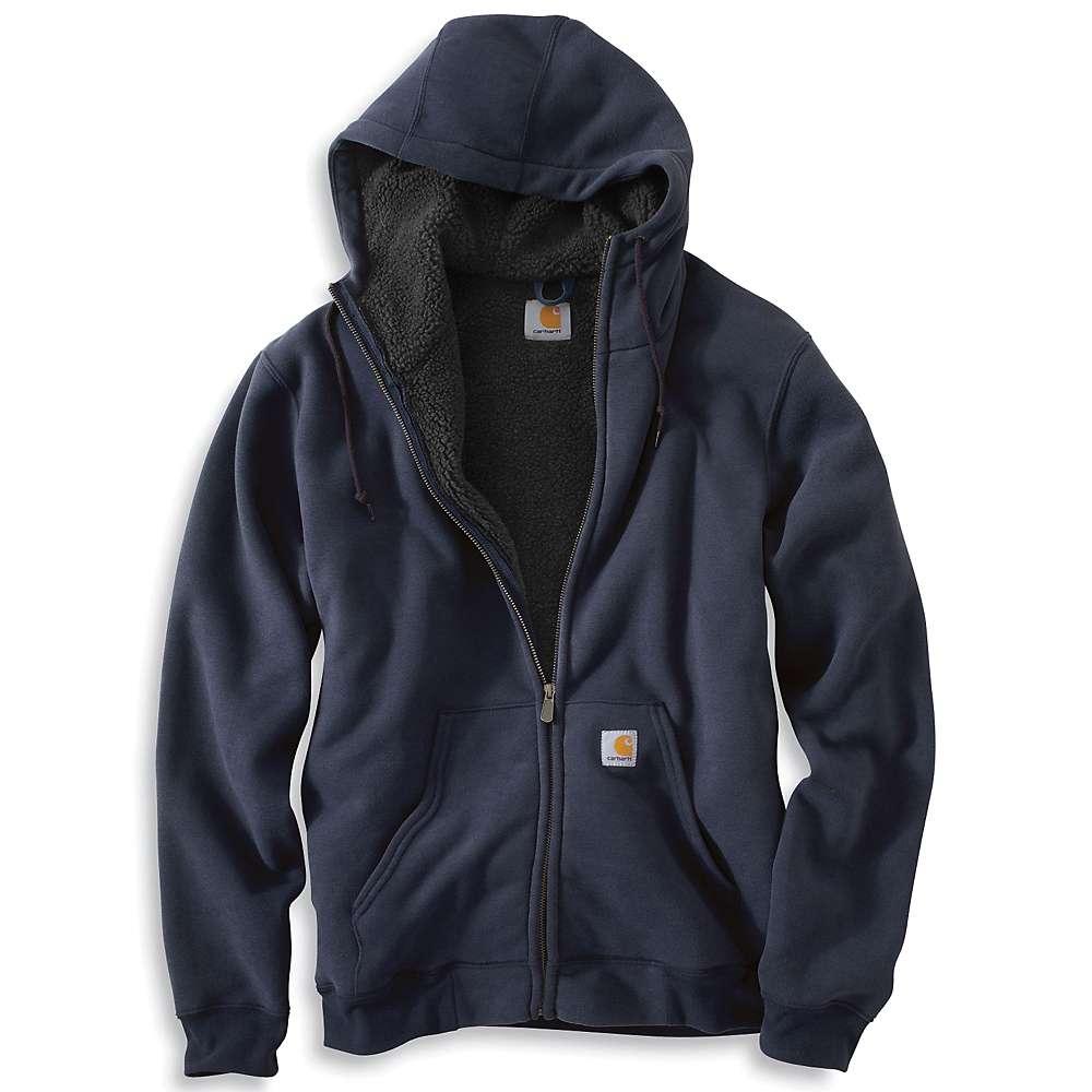 Carhartt Men's Collinston Brushed Fleece Sherpa Lined Sweatshirt - XL Regular - New Navy