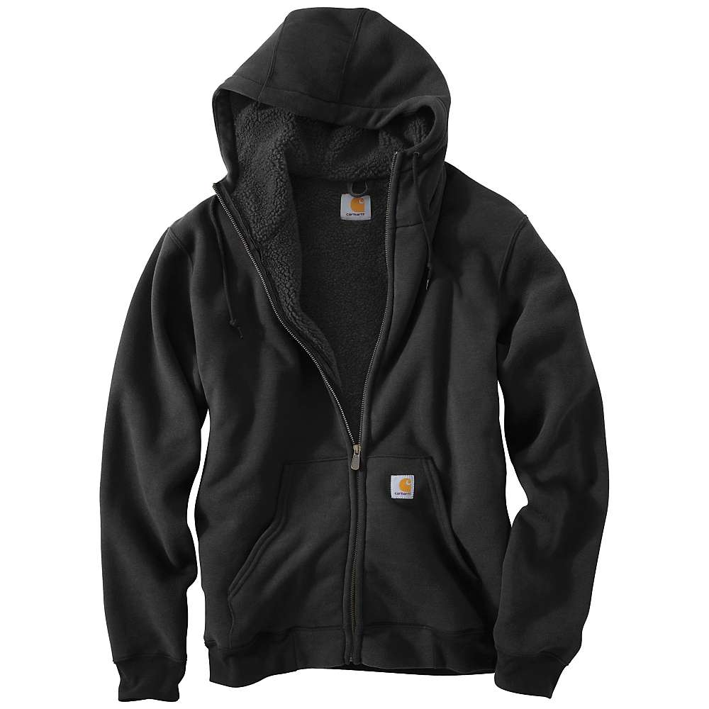 Carhartt Men's Collinston Brushed Fleece Sherpa Lined Sweatshirt - XL Regular - Black