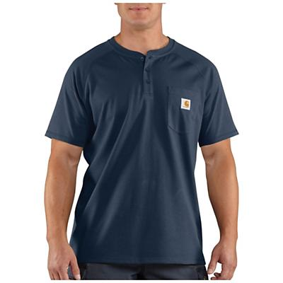 Carhartt Force Cotton Delmont SS Henley Shirt - Navy - Men