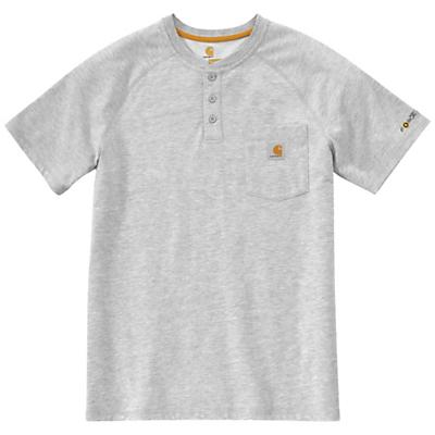 Carhartt Force Cotton Delmont SS Henley Shirt - Heather Grey - Men