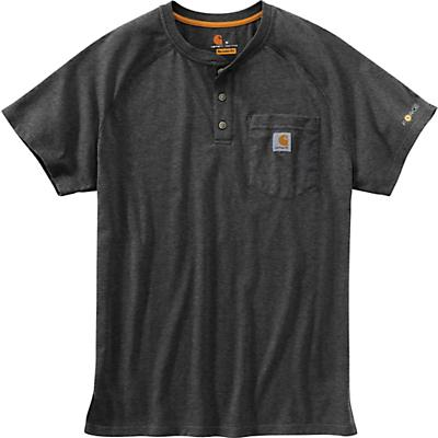 Carhartt Force Cotton Delmont SS Henley Shirt - Carbon Heather - Men