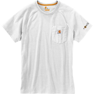 Carhartt Force Cotton Delmont SS T-Shirt - White - Men