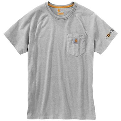 Carhartt Force Cotton Delmont SS T-Shirt - Heather Grey - Men