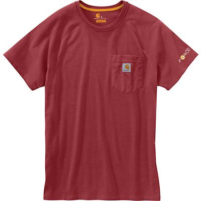 Carhartt Force Cotton Delmont SS T-Shirt - XL Tall - Dark Barn Red Heather - Men
