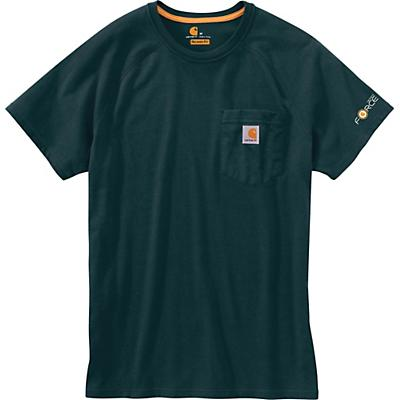 Carhartt Force Cotton Delmont SS T-Shirt - Ink Green - Men