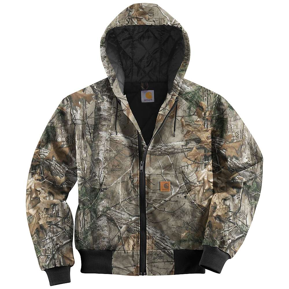 Carhartt Men's Quilted Flannel Lined Workcamo Active Jacket - XL Regular - Realtree Xtra