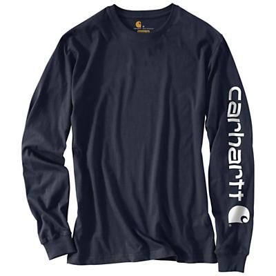 Carhartt Signature Sleeve Long Sleeve T-Shirt - Navy - Men