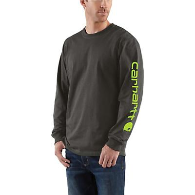 Carhartt Signature Sleeve Long Sleeve T-Shirt - Peat - Men