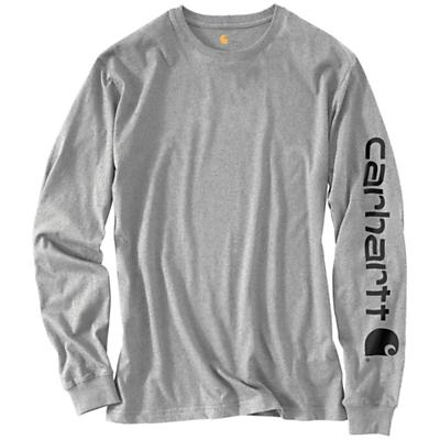 Carhartt Signature Sleeve Long Sleeve T-Shirt - Heather Grey - Men