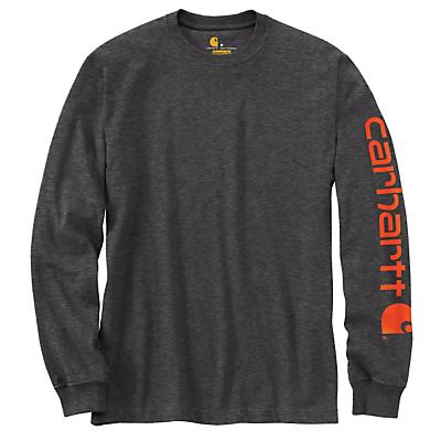 Carhartt Signature Sleeve Long Sleeve T-Shirt - Carbon Heather - Men