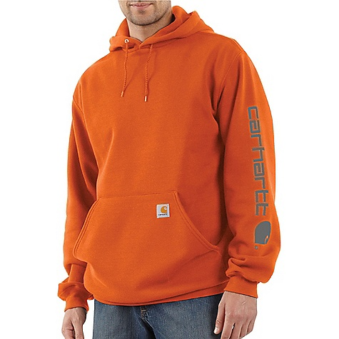 Carhartt Men's Midweight Signature Sleeve Logo Hooded Sweatshirt 2191769