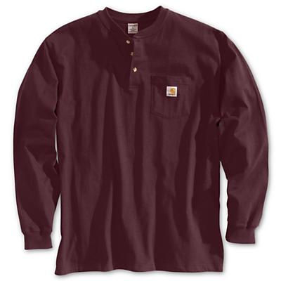 Carhartt Workwear Pocket Long Sleeve Henley Top - Port - Men