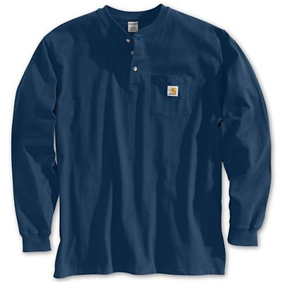 Carhartt Workwear Pocket Long Sleeve Henley Top - Navy - Men
