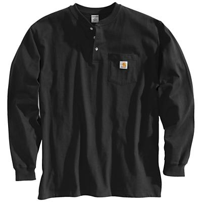 Carhartt Workwear Pocket Long Sleeve Henley Top - Black - Men