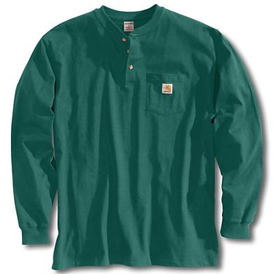 Carhartt Workwear Pocket Long Sleeve Henley Top - Hunter Green - Men