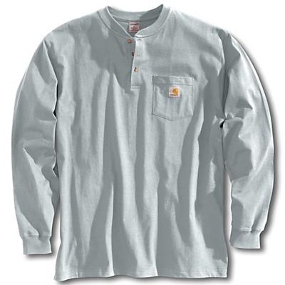 Carhartt Workwear Pocket Long Sleeve Henley Top - Heather Grey - Men