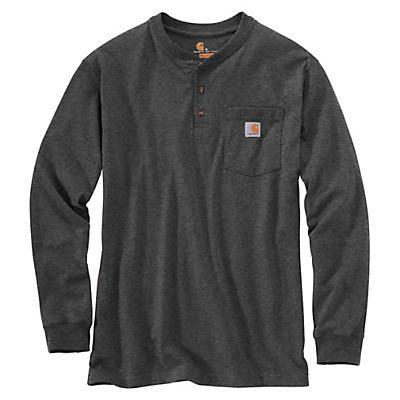 Carhartt Workwear Pocket Long Sleeve Henley Top - Carbon Heather - Men