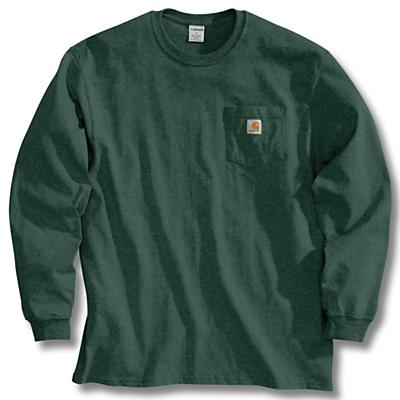 Carhartt Workwear Pocket Long Sleeve T-Shirt - Hunter Green - Men
