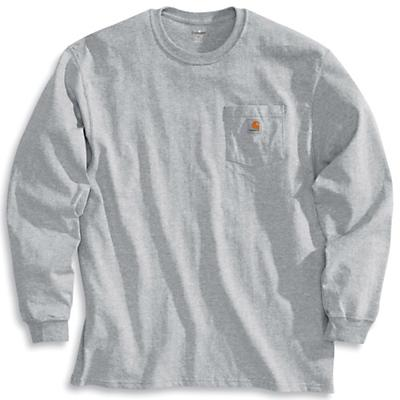 Carhartt Workwear Pocket Long Sleeve T-Shirt - Heather Grey - Men