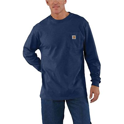 Carhartt Workwear Pocket Long Sleeve T-Shirt - Dark Cobalt Blue Heather - Men