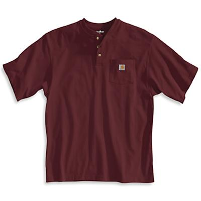 Carhartt Workwear Pocket SS Henley Top - Port - Men