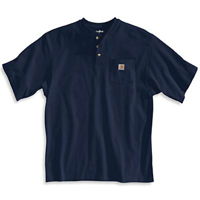 Carhartt Workwear Pocket SS Henley Top - Large Regular - Navy - Men