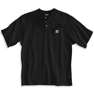 Carhartt Workwear Pocket SS Henley Top - Black - Men