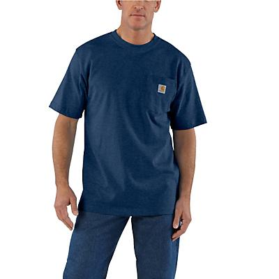 Carhartt Workwear Pocket SS T Shirt - Dark Cobalt Blue Heather - Men