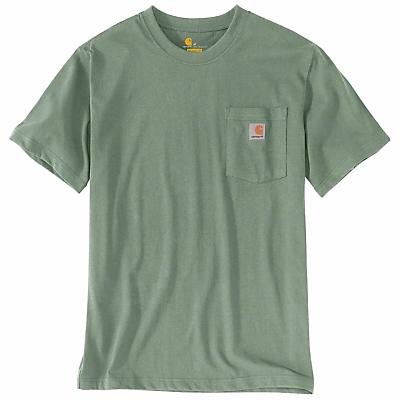 Carhartt Workwear Pocket SS T Shirt - 4XL Tall - Botanic Green - Men