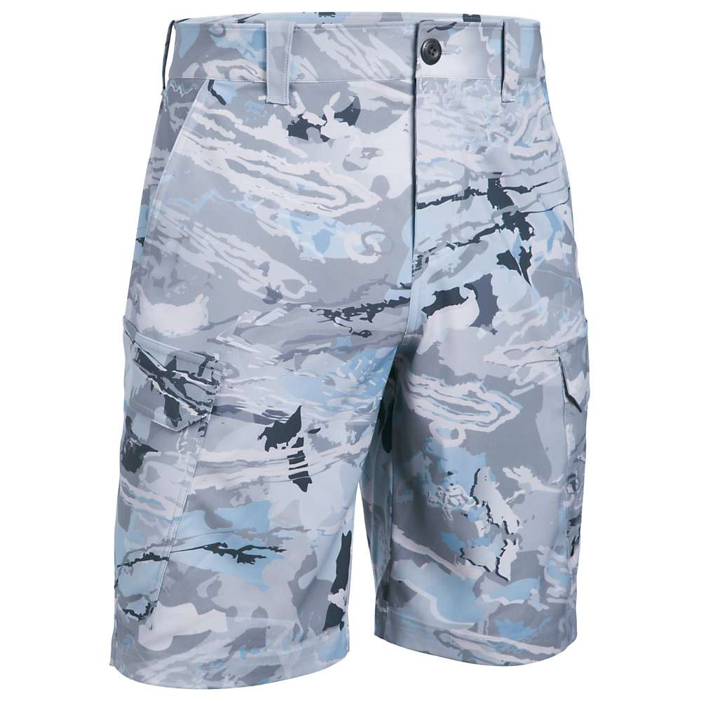 Under Armour Men's UA Fish Hunter Cargo Short - 38 - Ridge Reaper Camo Hydro / Stealth Grey