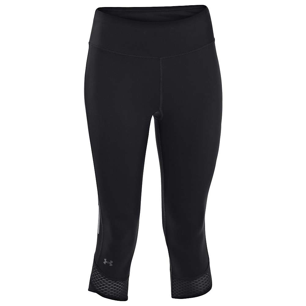 Under Armour Women's Fly By Compression Capri - XS - Black / Black / Reflective
